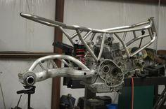 Custom Titanium Ducati SportClassic frame with S4R mono swingarm fitment