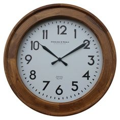 Threshold™ Casual Wood Wall Clock