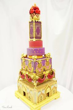 Other / Mixed Shaped Wedding Cakes - * Albena's Custom Cakes First place at the Montreal Cake Show 2013 - Wedding Cakes Category Tall Wedding Cakes, Indian Wedding Cakes, Luxury Wedding Cake, Themed Wedding Cakes, Beautiful Wedding Cakes, Gorgeous Cakes, Pretty Cakes, Themed Cakes, Amazing Cakes