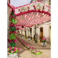 Festa dos Tabuleiros in Tomar, Portugal (by... found on Polyvore