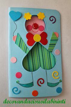 Punch Art, Ideas Para, Diy And Crafts, Greeting Cards, Halloween, School, Paper, Pagliacci, Frame