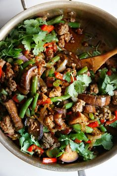 Garlic Sriracha Pork Stir Fry