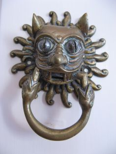 Brass Cat Door Knocker