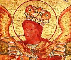 Arcangelo Michele icona frammento voevody