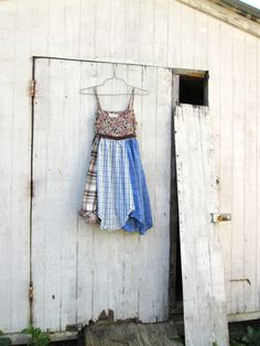 xsmall  small  Upcycled clothing / funky cotton dress by CreoleSha, $82.00