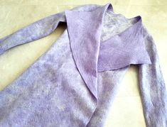 Buy Merino wool felted cardigan, lilac colous