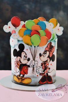 Mini Mouse Cake, Minnie Mouse Birthday Cakes, 40th Birthday Cakes, Minnie Mouse Party, Bolo Mickey E Minnie, Mickey Cakes, Mickey Mouse Cake, Rodjendanske Torte, Disney Themed Cakes