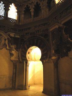 Al-Andalus ( الأندلس )  Zaragoza:  - Palacio de la Aljafería) is a fortified medieval Islamic palace built during the second half of the 11th century in the Moorish taifa of Zaragoza of Al-Andalus,