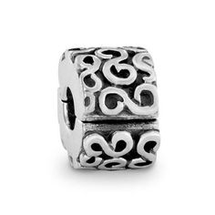 Pandora Xmas(Christmas) Deals Silver S Swirl Clip Charm 790338 Clearance Deals