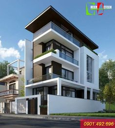 Modern Minimalist House Design Dream Homes New Ideas Duplex House Design, House Front Design, Modern House Design, Villa Design, Modern Bungalow Exterior, Luxury Homes Exterior, Exterior Design, Residential Building Design, Residential Architecture
