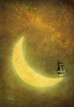 Neil Thompson Artist - Moon Acrylics on board