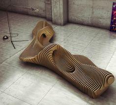 """Die Möbel von Oleg Soroko's Serie """"Parametric furniture"""" kennzeichnen sich durch nichtlineare, organisch-inspirierte Formen, die mittels einer parametrischen Methode konstruiert wurden. #inspiration #ndu #newdesignuniversity"""