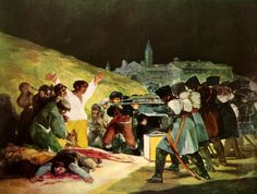The Third Of May 1808 In Madrid The Executions on Principe Pio Hill 1814 Francisco Goya y Lucientes Spanish) Oil on canvas Museo del Prado Madrid Spain Canvas Art - Francisco de Goya Francisco Goya, Spanish Painters, Spanish Artists, Goya Paintings, Portrait Paintings, Art Espagnole, Art Romantique, Tableaux Vivants, Oil On Canvas