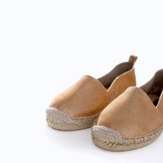 ZARA - NEW THIS WEEK - SHINY LEATHER SLIP-ON WITH ESPADRILLE SOLE