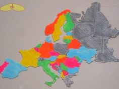 Europe map puzzle by chapulina - Thingiverse