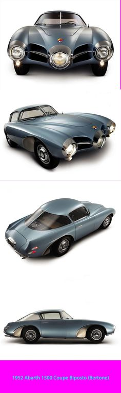 1952 Abarth 1500 Coupe Biposto (Bertone) designed by Franco Scaglione Vintage Cars, Antique Cars, Colani, Weird Cars, Automotive Design, Amazing Cars, Hot Cars, Motor Car, Concept Cars