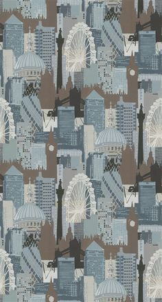 For a contemporary feel how about a few scatter cushions in Linwood Fabric's London Skyline? Or for a bolder look choose one of our armchairs upholstered in this cultured print.