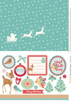 Retro festive free printables from Papercraft Inspirations 145