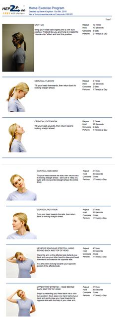 Neck stretches and postural help --- Pain from computer. Start with this !