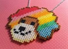 Afro Ken Necklace perler beads by Weeabootique