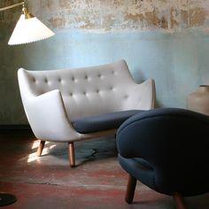 Desperately fell in love with the Poeten Sofa by Finn Juhl! // posted by monie.ka @ hard graft