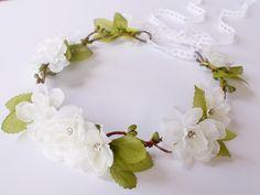 Haarbloemen - Bloemen diadeem - Een uniek product van LolaWhite op DaWanda