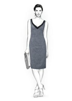4235 PDF Dress Sewing Pattern - Women Clothes, Personalized for your custom size. $2.49, via Etsy.