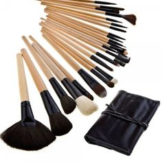 24pc Bleached Wood Pro Makeup Brush Set from Taberna Meos for $44.99 on Square Market