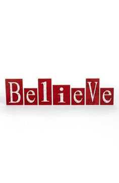 K & K Interiors 'Believe' Wood Blocks available at #Nordstrom