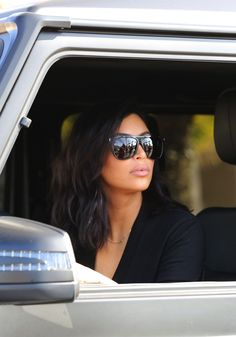 Kim Kardashian New 2015 Hairstyle Kardashian Style, Kardashian Jenner, Kourtney Kardashian, Kim Kardashian Sunglasses, Celebrity Sunglasses, Fashion Idol, Fashion Addict, Cute Sunglasses, Sunnies
