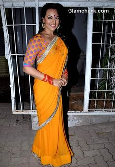 "Sonakshi Sinha Steals the Limelight in Mango Sari at ""Dabaang 2"" Promo"