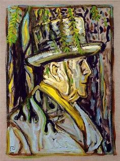 BILLY CHILDISH Sibelius Under a Tree (Study), 2011 oil and charcoal on linen