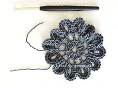 crochet flower tutorial:  http://rosa-r.blogspot.com/2011/03/chrochet-flower-tutorial.html