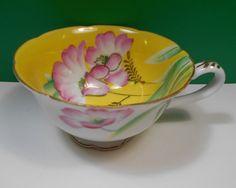 Maruki China Yellow & Pink Flower Teacup