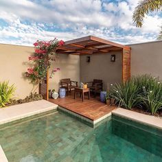 If you are working with the best backyard pool landscaping ideas there are lot of choices. You need to look into your budget for backyard landscaping ideas Small Backyard Pools, Backyard Pool Designs, Swimming Pools Backyard, Swimming Pool Designs, Backyard Patio, Backyard Landscaping, Landscaping Ideas, Small Patio, Patio Design