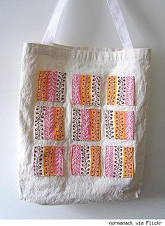 Great idea for those little left over bits of fabric