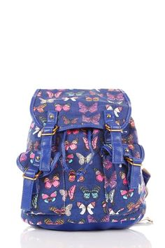 Fabric Butterfly Print Rucksack – Backpacks, Back Bags, Travel Bags
