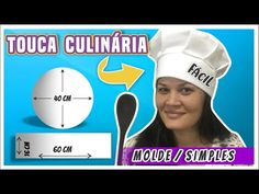 Como fazer Touca Culinária ou Cozinha com Molde Fácil - YouTube Easy Sewing Projects, Sewing Projects For Beginners, Sewing Hacks, Sewing Accessories, Baby Bibs, Burp Cloths, Sewing Patterns, Seesaw, Mascara