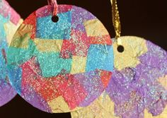 Christmas Craft for Kids: Tissue Paper Mosaic Ornaments | CBC Parents