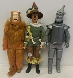 """Lot of 3: Vintage 1981 Collectible Toy Time """"Wizard of Oz"""" 12"""" Doll/Figures NOS #ToyTime"""