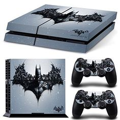 Are You A Batman Fan ? BATMAN PS4 Skin Set For All Batman Fans . Highest Quality, Full Color, Anti-Slip Grip-Like Vinyl Sticker Will not Scratch, Fade (UV Resistant) or Peel Precisely Cut for Sony Pla