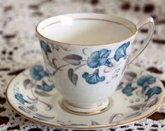 hammersley morning glory china pattern   ... Bone China Tea Cup and Saucer, Morning Glory Pattern. Crown Mark