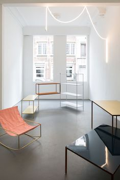 Folding Shelves by Muller Van Severen - can be seen at Viaduct SHOW 10 from 11 - 28 March 2015