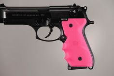 Beretta 92/96 series grip with Finger Grooves Pink - Hogue Grips