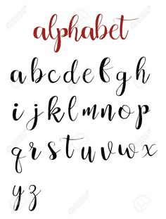 Latin alphabet letters on a white background. calligraphy font hand lettering Stock Vector - 70943557 Vector - Latin alphabet letters on a white background. Alphabet Cursif, Disney Alphabet, Handwriting Alphabet, Graffiti Alphabet, Brush Pen Lettering, Hand Lettering Tutorial, Hand Lettering Alphabet, Lettering Practice Sheets, Calligraphy Fonts Alphabet