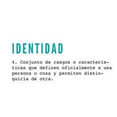 ✔ identidad