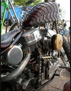 Indian Larry and Pails Cox's Berserker bike #custom #pan #hd #biker #chopper #motorcycle