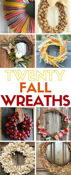 Terrific Learn how to make 20 easy fall wreaths. Hang them on your front door or inside for autumn home decor. The post Learn how to make 20 easy fall wreaths. Easy Fall Wreaths, How To Make Wreaths, Easy Diy Crafts, Diy Home Crafts, Autumn Crafts, Holiday Crafts, Holiday Ideas, Halloween, Fall Diy