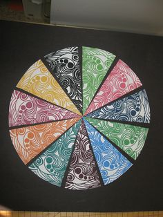 Printmaking- make a pattern & then use this to create your color wheel