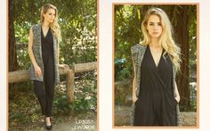 Look 7: Marbled Sweater Vest with Surplice Jumpsuit #fw2015 #lookbook #cluce